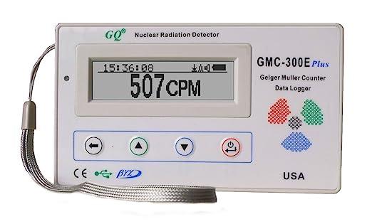 GQ GMC-300E-Plus Digital Contador Geiger Nulcear la radiación del monitor del detector del medidor dosímetro Beta Gamma X datos de rayos ...