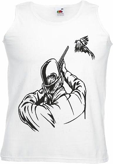 Camisa del músculo Tank Top Cazador Salvaje Big Bird JABALÍ REH Manga en Blanco: Amazon.es: Ropa y accesorios