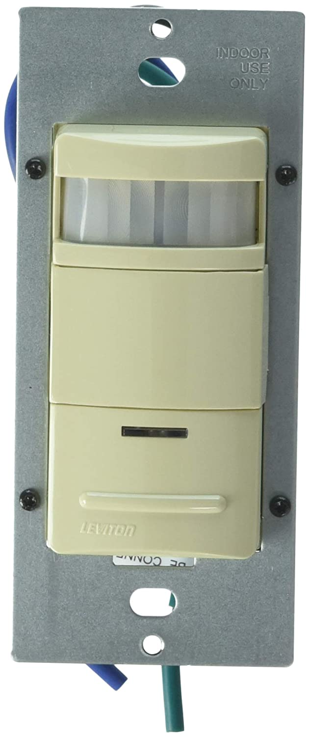 Leviton ODS10-IDI Decora Pive Infrared Wall Switch Occupancy ... on