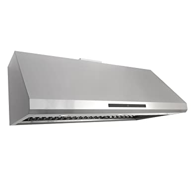 Cosmo COS-18U48 48-in Under-Cabinet Range Hood 1000-CFM Ductless Convertible Duct , Kitchen Stove Vent LED Light, Dual-Motor 4 Speed Exhaust, Fan Timer, Permanent Filter, Stainless Steel
