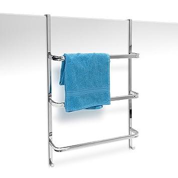 relaxdays handtuchhalter mit 3 handtuchstangen hxbxt: 85 x 54 x 11 ... - Badezimmerzubehör Ohne Bohren