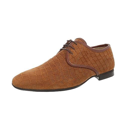 Ital-Design Herrenschuhe Business-Schuhe Budapester Stil Glattleder Camel  Gr. 42 a477bc61ea