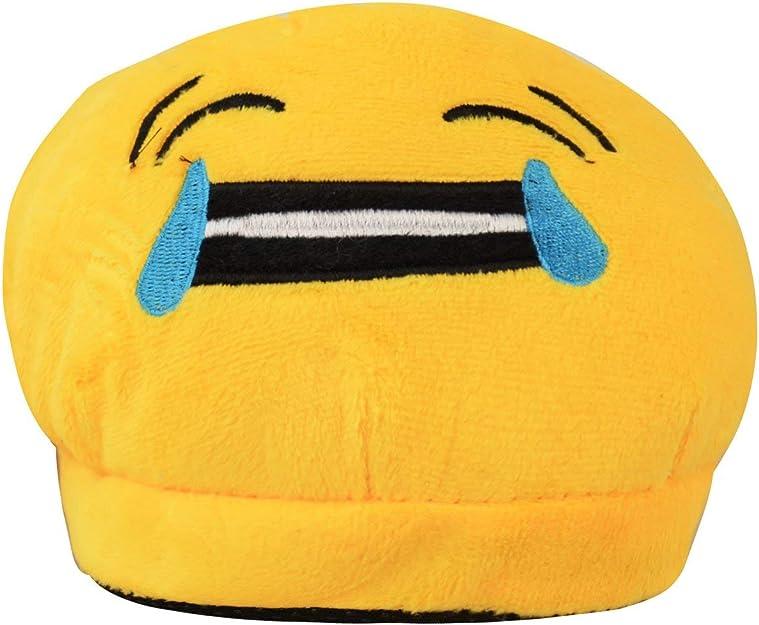 Homme Femme Enfants Emoji Plush Farci Unisexe Chausson Hiver Gardiens Chaussures Dint/érieur Taille