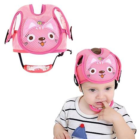 Protector de cabeza de bebé para gato y perro, con correas ...