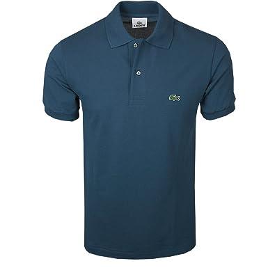 049f00270f3e Lacoste L1212 Z1G Polo T-Shirt Petrol Blue  Amazon.co.uk  Clothing