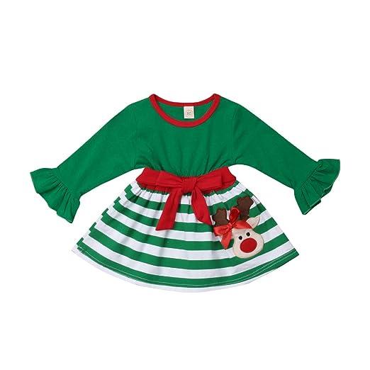 Christmas Toddler Infant Baby Kids Girls Princess Dress Long Sleeve Xmas Clothes
