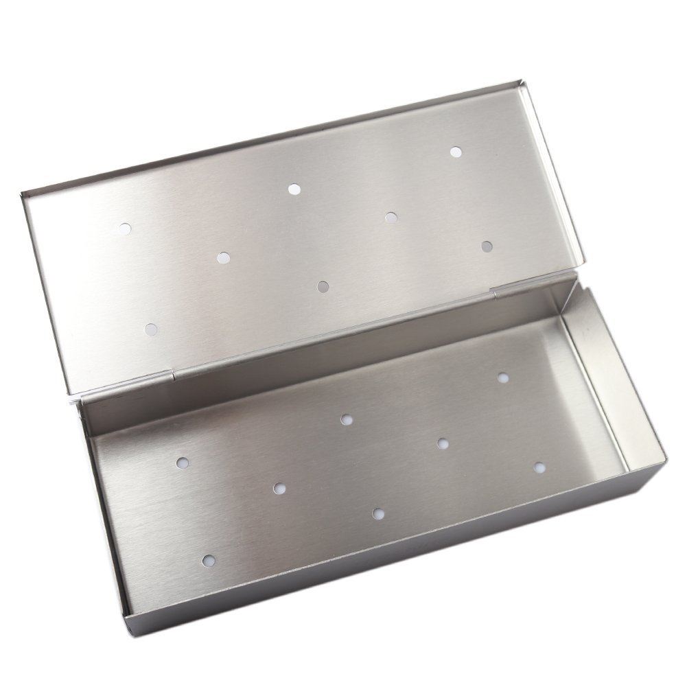 Mockins Even Thicker Stainless Steel BBQ Smoker Box for Grilling Barbecue Wood Chips On Gas Or Charcoal Grill … … by Mockins (Image #8)