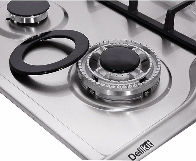 Amazon.com: Deli-kit DK258-A07 34 inch Gas Cooktop gas hob ...