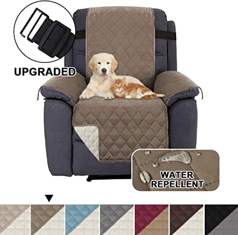 Image ofFundas Impermeables para sillas reclinables para sillones Fundas reclinables para sillas de Cuero Fundas reclinables para sillas Protect (reclinable, marrón/Beige)