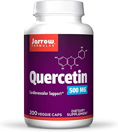Jarrow Formulas Quercetin 500 mg - 200 Veggie Caps - Supports Antioxidant Status, Cardiovascular Health & Immune Health - 200 Servings