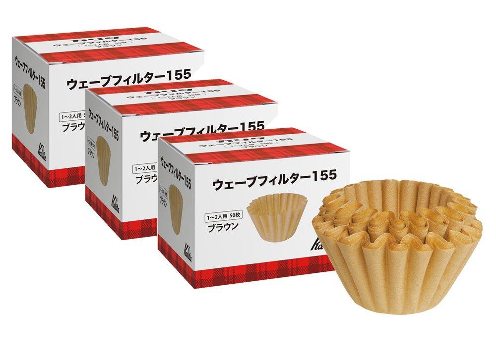 # 22195 three box [1-2 person] Brown 50 pieces ? Kalita Wave series Wave Filter 155