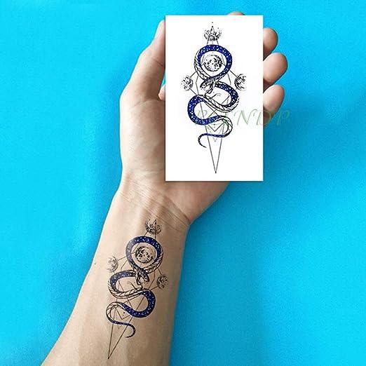 ljmljm 5 Unids Impermeable Etiqueta Engomada del Tatuaje Ola Amor ...