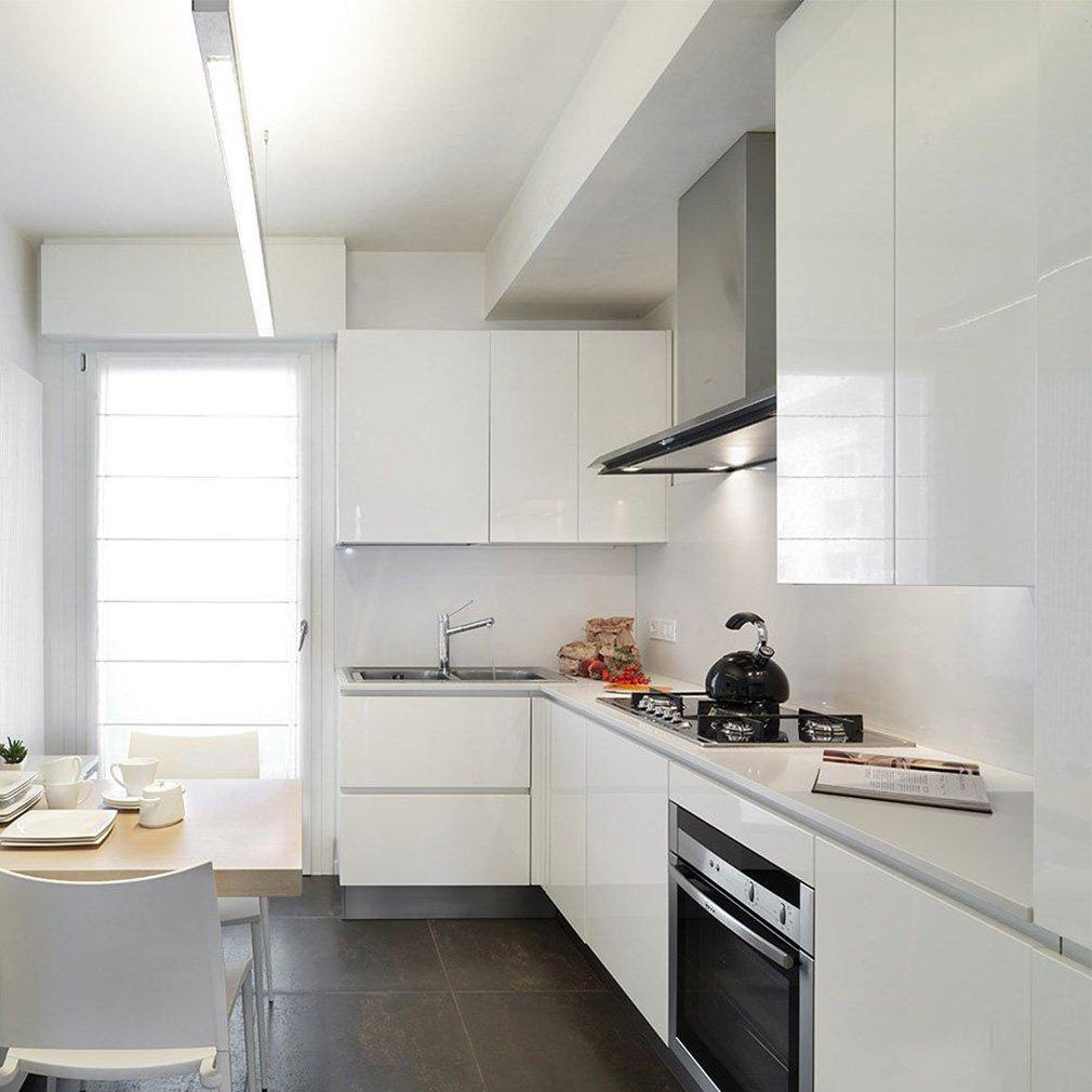 KINLO Aufkleber Küchenschränke weiß 61x500cm aus hochwertigem PVC ...