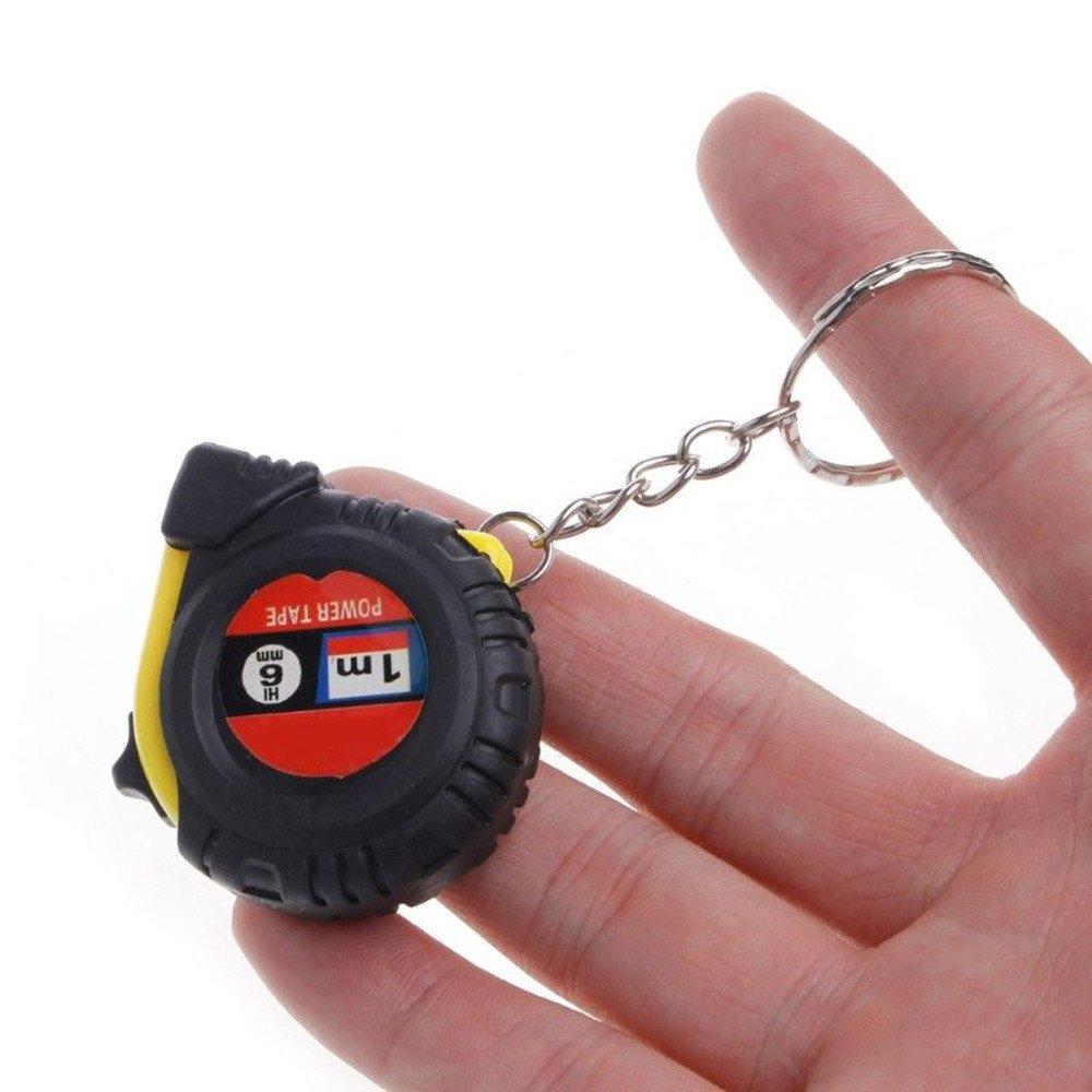♛Euone Wine Stopper ♛Clearance♛,Retractable Ruler Tape Measure Key Chain Mini Pocket Size Metric 1m Random Color