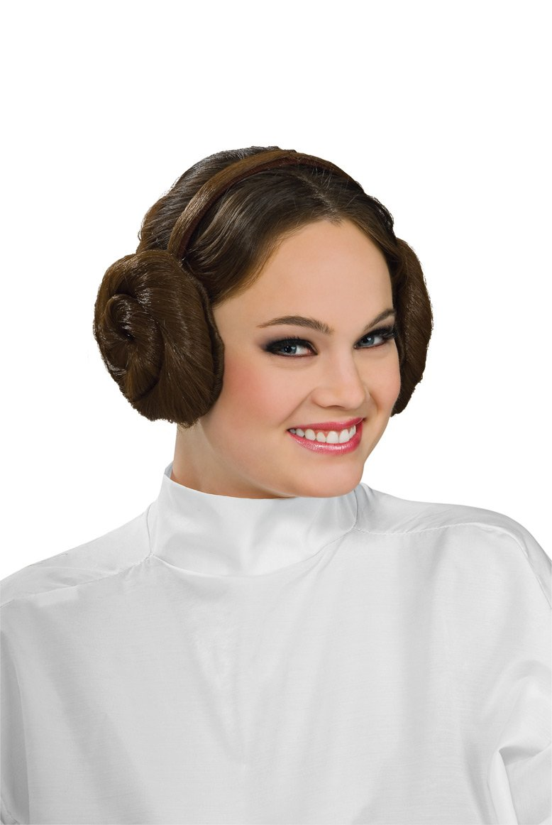 Rubie's Costume Women's Star Wars Princess Leia Headband Brown One Size Rubies Costumes - Apparel 8230