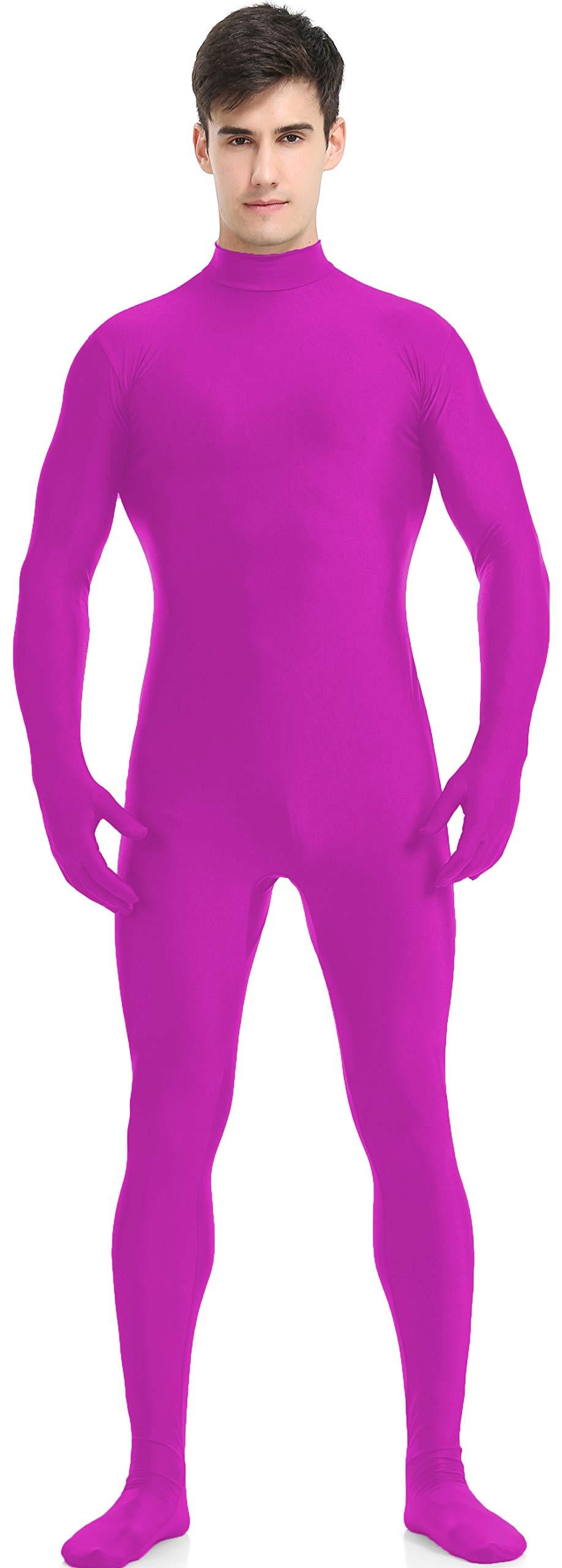 speerise Adult Full Lycra Spandex Bodysuit Unitard Costume Zentai Suit Without Hood, Fuchsia, XXXL by speerise