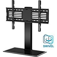 FITUEYES Universal TV Stand Swivel and Height Adjustable VESA Mount for 32 to 65 inch TV Black Heavy Duty TT105001GB