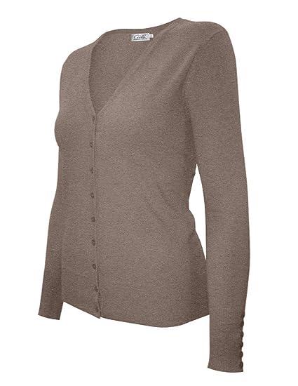 2c1ac673e7 Cielo Women s Warm Fashion Knit Cardigan Sweater (Large