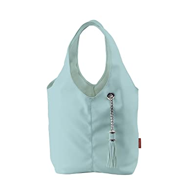 Amazon.com  BURGAN Magnus Hobo Bag (Baby Blue Faux Leather with Silver  Accents)  Shoes 81e2c468042f4