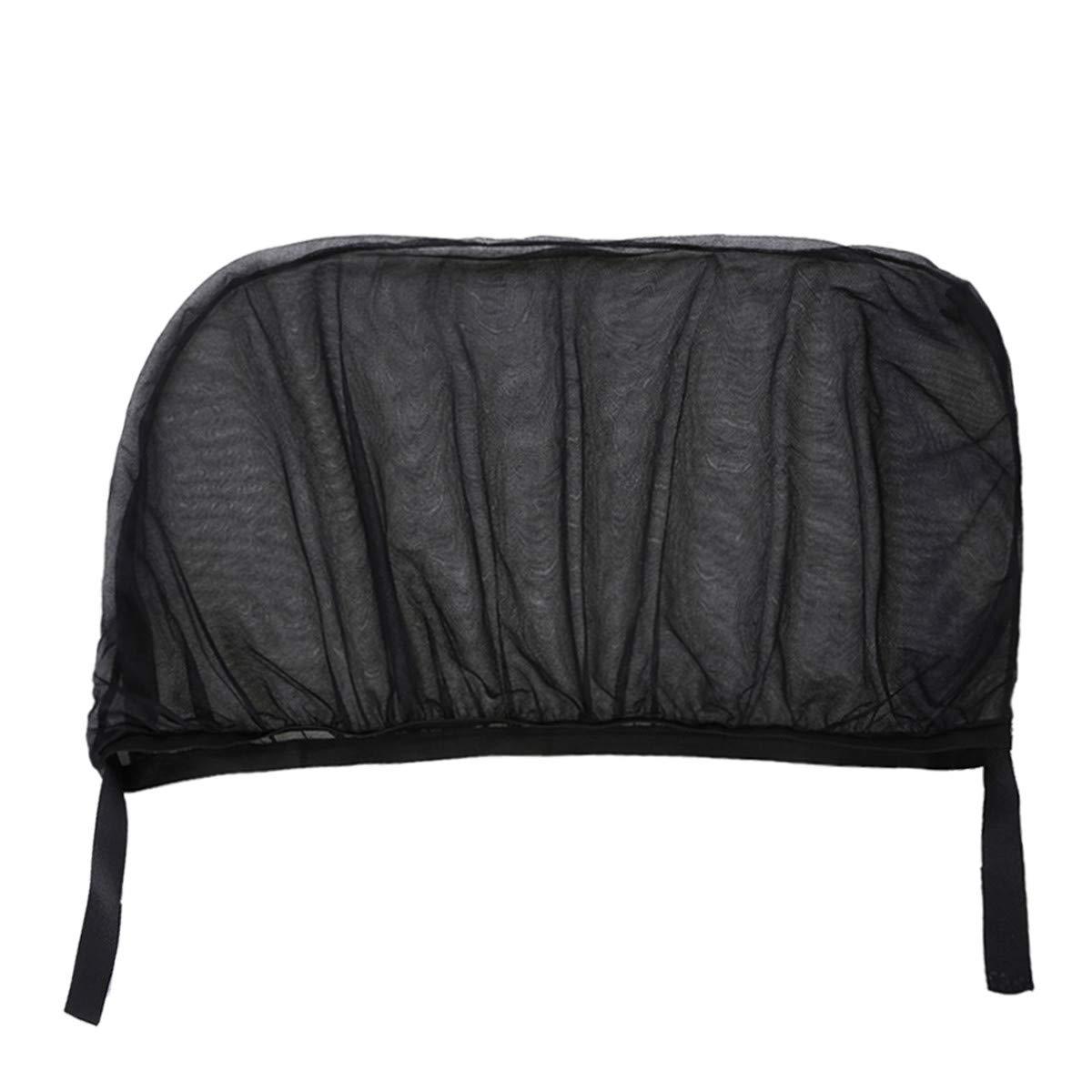 LKXHarleya 2Pcs/lot Car Sun Visor Rear Side Window Sun Shade Mesh Fabric Sun Visor Shade Cover Shield UV Protector Black Auto Sunshade Curtain