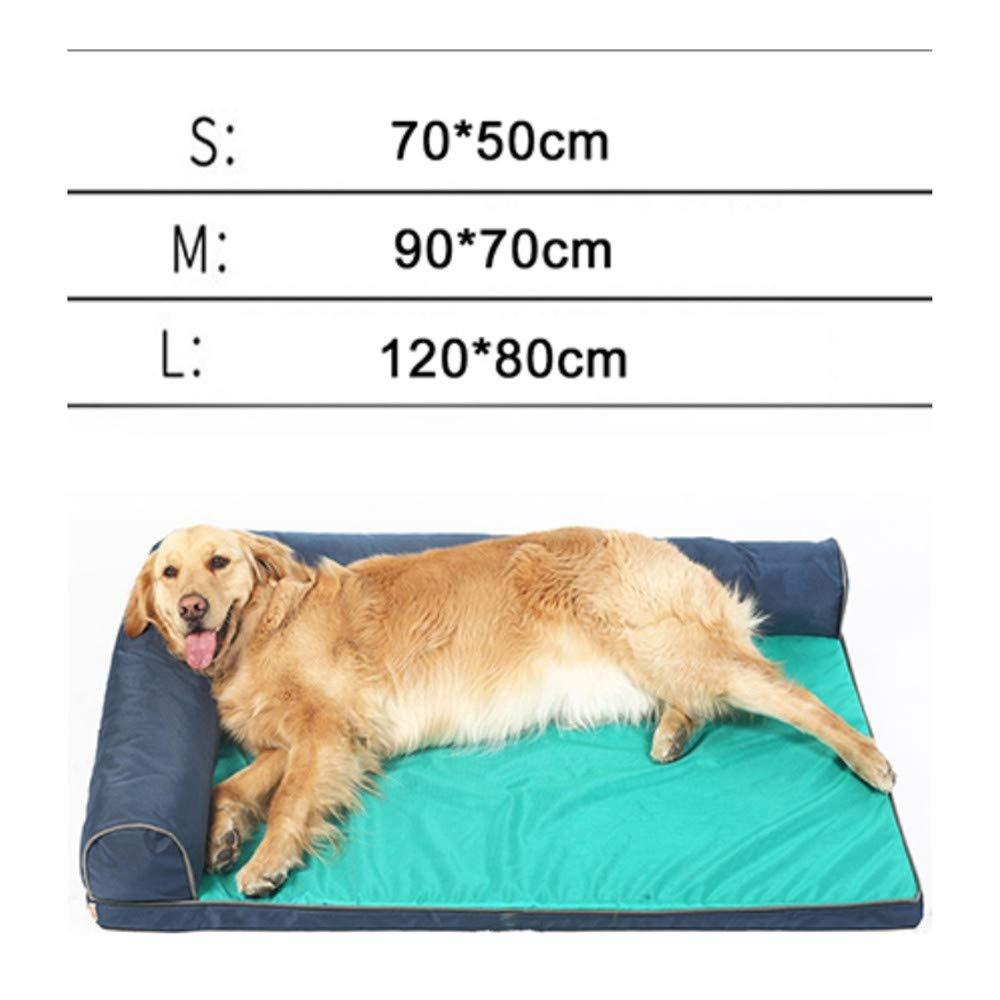 Wuwenw Pet Cute Print Cartoon Bed Warming Dog House Soft Impermeable Material De Nylon Sofa All Seasons para Perros Grandes, L, B