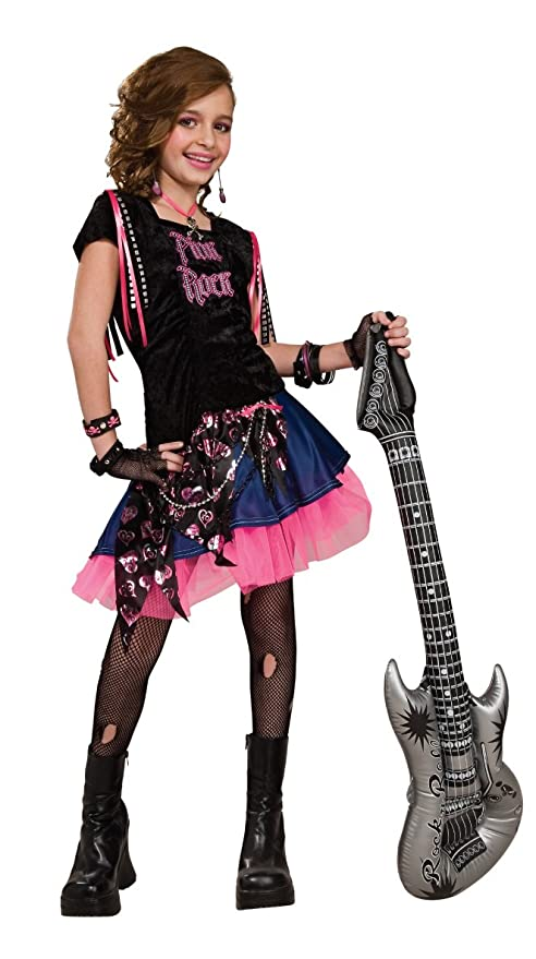 0fea76c1f Amazon.com: Rubie's Pink Rock Girl Costume - Large (Ages 8 to 10): Toys &  Games