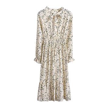 Wawer Koreanisches Kleid Sommerkleid V Ausschnitt