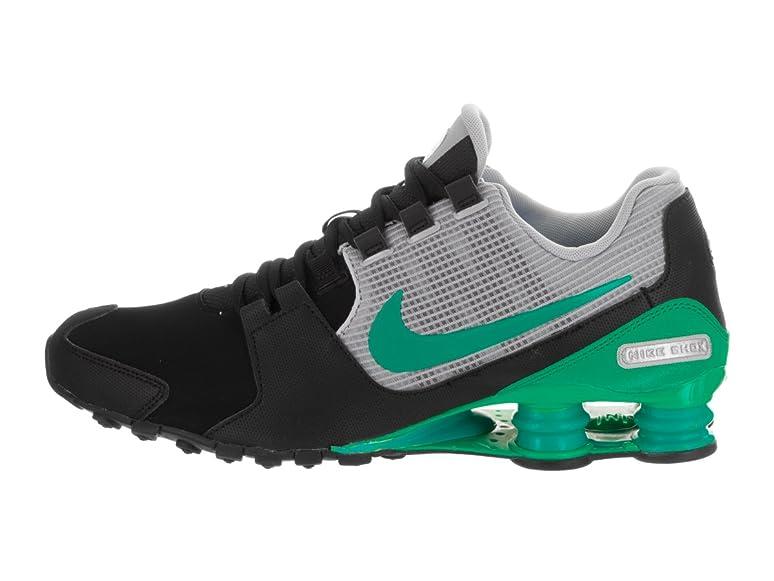 f444e3514e95e8 ... inexpensive amazon nike mens shox avenue ltr black stadium green wolf  grey running shoe 8 men