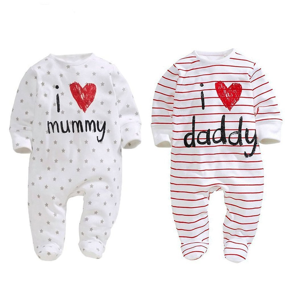 AOMOMO Baby Jungen (0-24 Monate) Strampler 2pack 3 Month