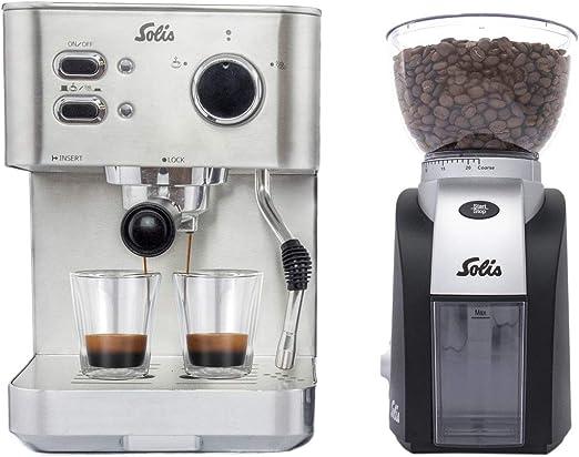 Solis Primaroma 1010 - Cafetera de espresso + Molinillo de café ...