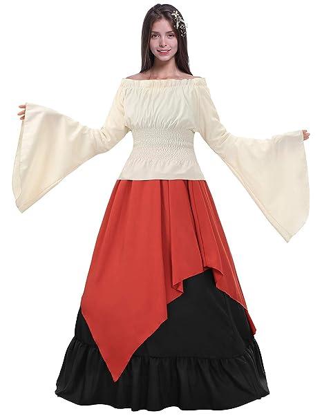 Amazon.com: Fancyqube - Disfraz medieval de renacentismo ...