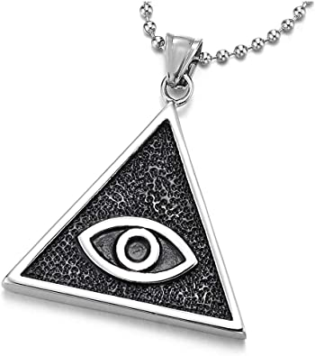 collier homme triangle