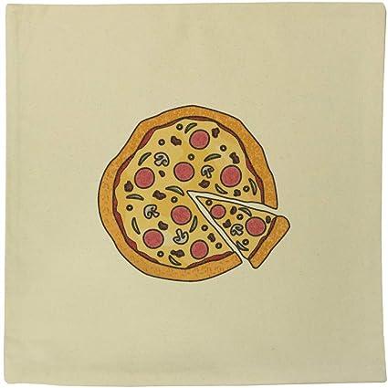 Azeeda 40cm x 40cm Pizza Funda de cojín de Lona ...