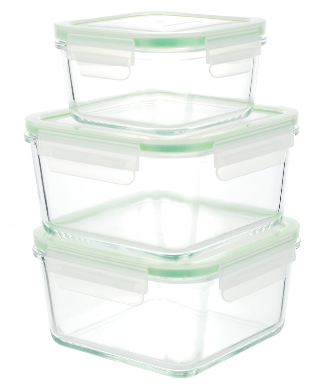 Superior Amazon.com: Kinetic 6 Piece (35oz, 15oz) Square GoGreen Glassworks Oven  Safe Glass Food Storage Container Set With Leak Proof Lids; (3 Containers  And 3 ...
