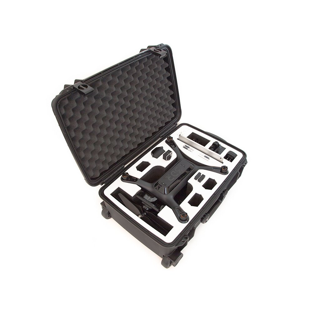 Drone Crates 3DR Solo Case - Rolling, Hardshell, Waterproof, Lifetime Warranty, Made In The USA (Black Case, White Foam) by Drone Crates