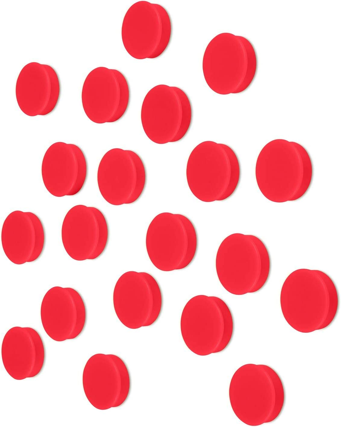 Scribble 1 Inch Red Office Magnets (20 Pack), Colorful Round Refrigerator Magnets, Perfect for Whiteboards, Lockers & Fridge.