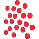 Scribble 1 英寸红色办公室磁铁(20 个装),彩色圆形冰箱磁铁,适用于白板、储物柜和冰箱。