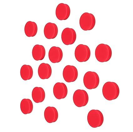 Imanes para pizarra blanca, 25 mm, 20 unidades, color rosso