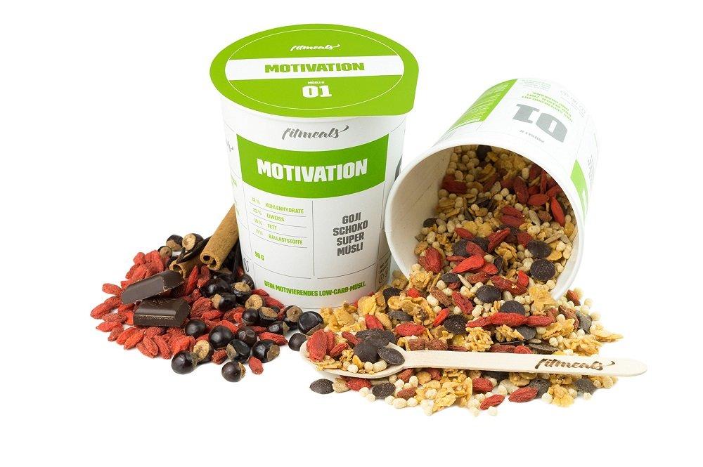 fitmeals Low-Carb Protein-Müsli Sixpack, 12er Pack (12 x 90 g), (Diabetiker geeignet) vegan & ohne Zucker, fitmeals