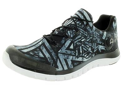 Reebok Men's Zpump Fusion Geo Graphite/Black/White Running Shoe 8 Men US