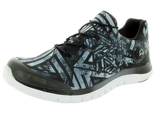 Reebok Men s Zpump Fusion Geo Graphite Black White Running Shoe 9.5