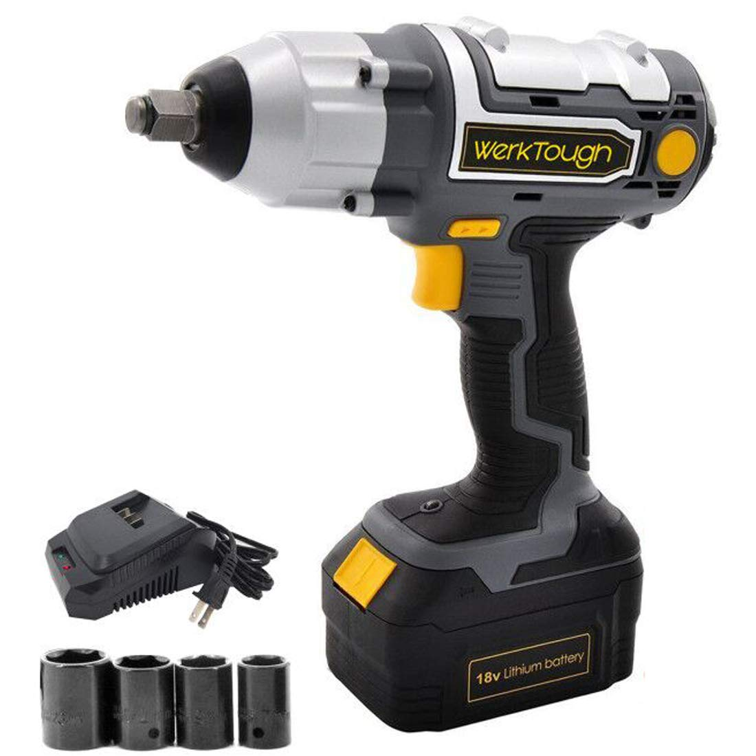 Werktough 18 20V IW03 Cordless Impact Wrench Lion battery 1 2 Electric Impact Wrench Battery Charger Included