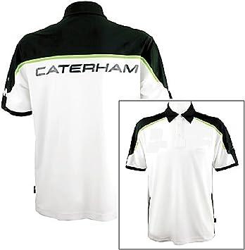 Caterham F1 Team HPE Rendimiento Ropa 1 de Fórmula Camisa, Hombre, Blanco, Small: Amazon.es: Deportes y aire libre