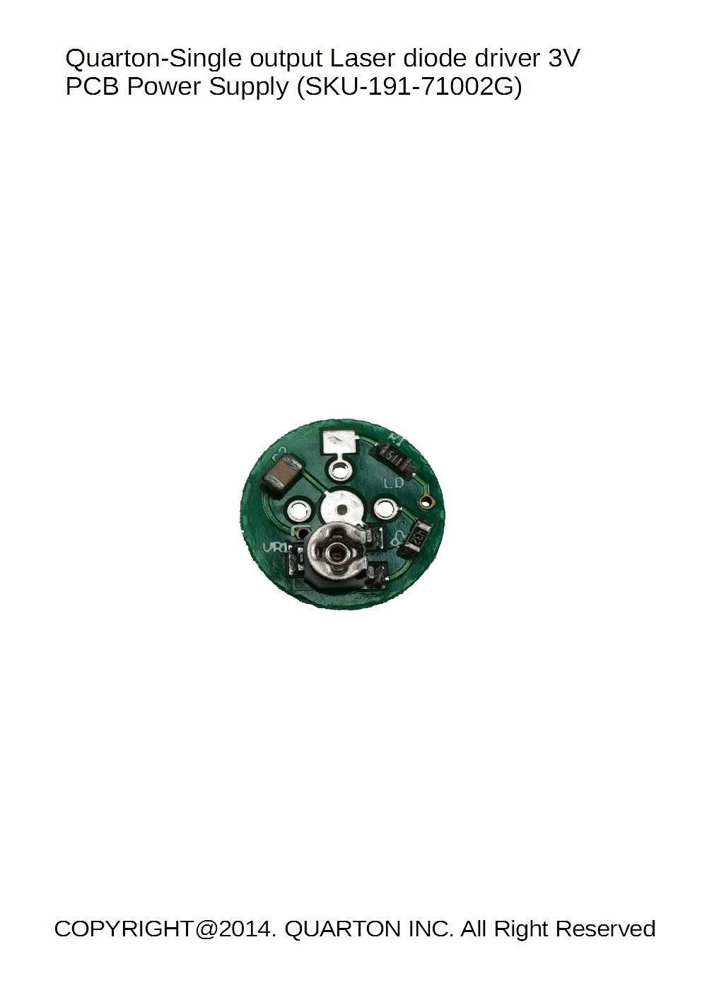 Quarton Single Output Laser Diode Driver 3v Pcb Power Circuit Supply 191 71002g 3 Pcs Computers Accessories