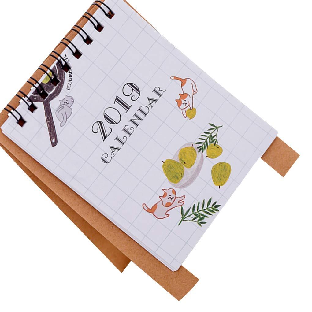 Stile fresco Fashion Mini disegno semplice di Stand up Desktop Calendar multi colore del modello Scelta Beaums