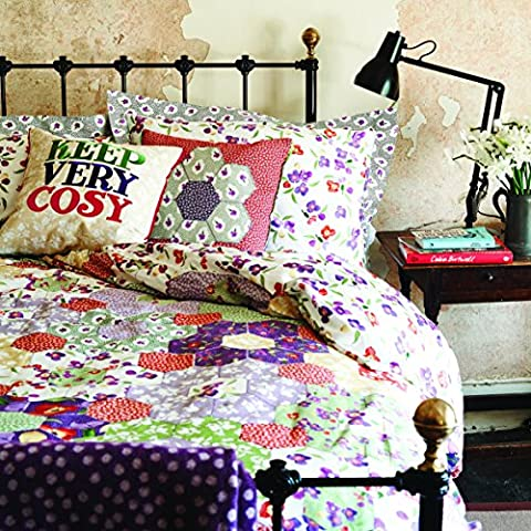 Emma Bridgewater Wallflower Floral Patchwork Duvet Cover, Percale Cotton Sateen, Single by Emma - Sateen Single