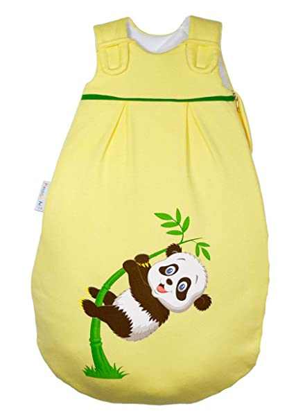 Picos Aerosleep – Saco de dormir para bebé amarillo con Panda Impresión I niña I Joven