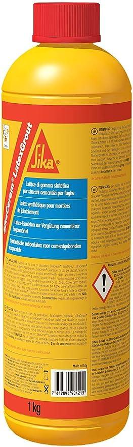 SikaCeram LatexGrout, Resina sintética de latex para lechadas de juntas cementosas, 1kg, Blanco: Amazon.es: Bricolaje y herramientas