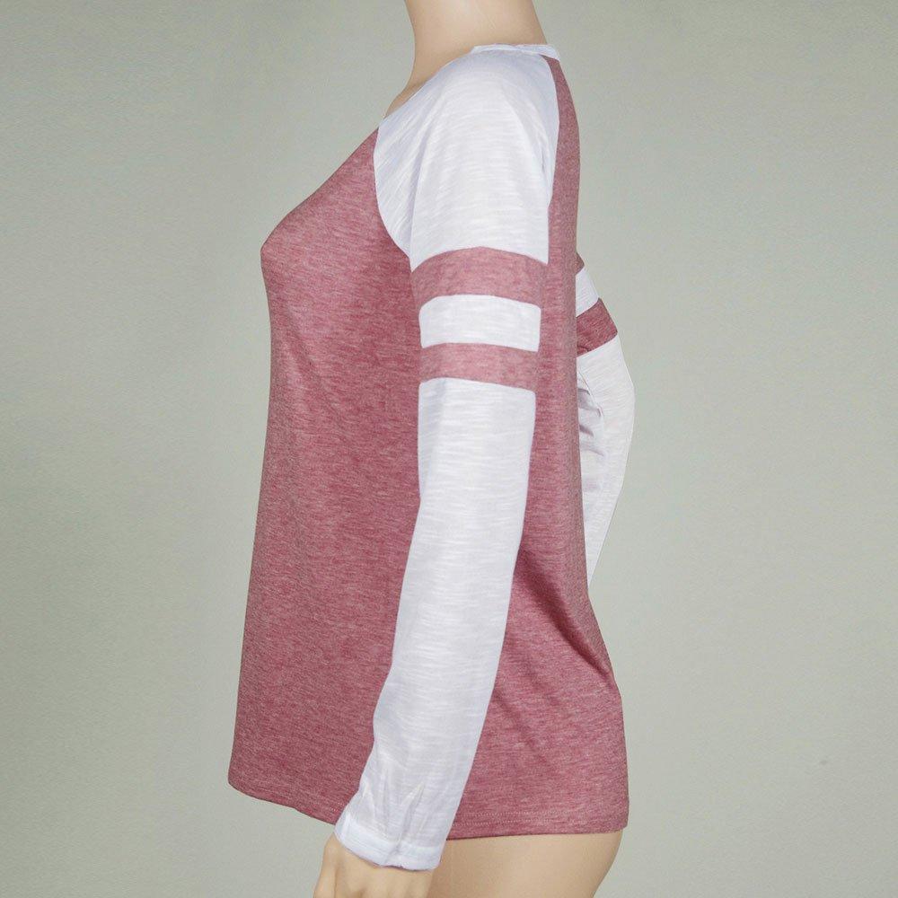UNSKAM Womens Long Sleeve Round Neck Shirt Casual Tops Classical Blouses for Ladies Women\'s T-Shirt Print Tee Shirt Fashion Pullover Elegant T Shirt