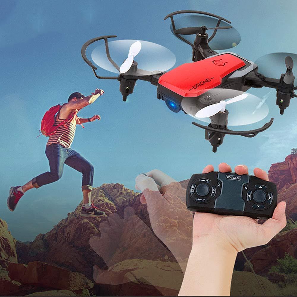 Ledu Mini-Drohne WiFi Live-Video, Vier-Achs-Drohnen-Luftbildfotografie, HD-Fernbedienung Fliegende Spielzeug, kopflosen Modus, EIN-Knopf-Start/Landung, faltbar für den Außenbereich